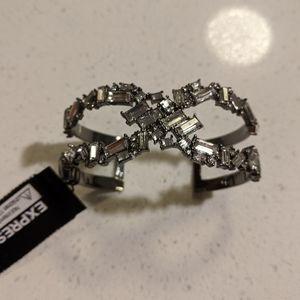 *NWT* Express stone embellished open cuff bracelet